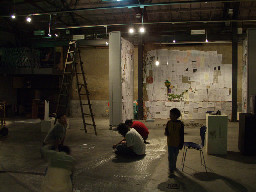 台中市臺中車站20號倉庫咖啡廳人物語夜景