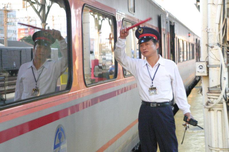 鐵道員PP自強號開車台中車站第二月台